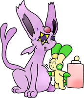 Darklight the Espeon was really thirsty by CJ-The-Pikachu