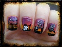 Halloween Nail Art Part1 by EnelyaSaralonde