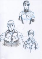 Young Avengers face study 2 by LucasBoltagon