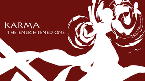 Karma Silhouette - Red - White - 1920x1080 by urban287