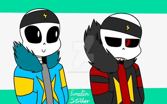 STtale!Sans and STfell!Sans - Hi there! by GirlGamer121