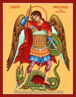 Saint Michael the Defender by Monastery-Icons