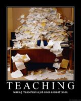 Demotivational Poster: Teacher by theflyingdutchman84