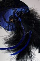 Steampunk Blue Fascinator II by ShimensokaTenshi