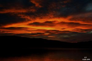 The Lake Set Fire to the Sky by XswishfootX