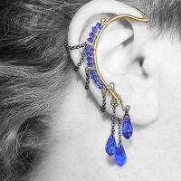 Sapphire Crystal Ear Wrap- SOLD by YouniquelyChic