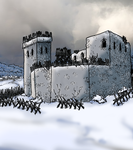 The Howling Keep in Winter by Shabazik