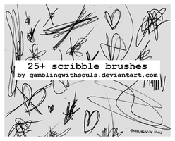 Scribble Brushes by gamblingwithsouls