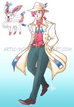 Commission: Mobster Sylveon Gijinka by Artic-Blue