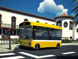 Funchal's City Bus - 3D by konceptsketcher