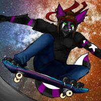 Space Skater by HesperCambrie