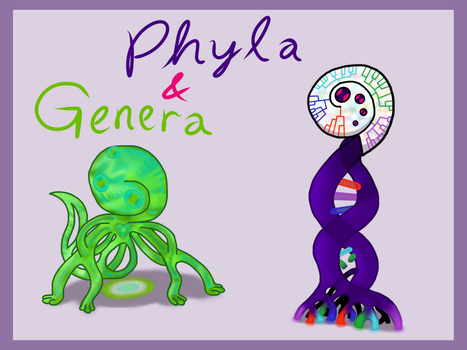 Phyla and Genera: the Owlgel Siblings by Aquatic-Candle