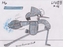 Mordecai in the game_my version by Krys-DamianiFoo