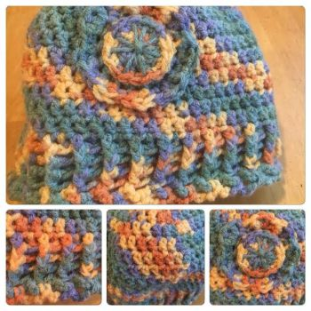 Crochet Hat with Flower by A-Passionate-Flame