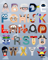 P is for Pixar Alphabet by mbaboon