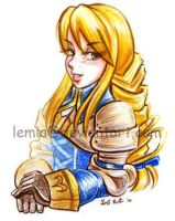 Portrait of a Knight - Agrias by LemiaCrescent