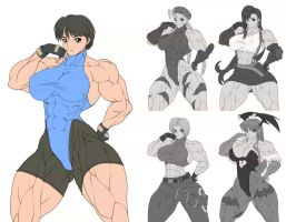 cosplay muscle girl by RENtb