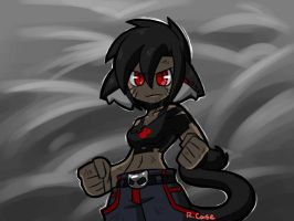 Lara gonna throw down by rongs1234