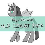 PAY-TO-USE: MLP Lineart by potion-seller