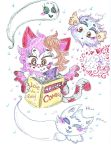 MissKitty reading with friends:pets by Kittychan2005