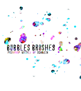 bubbles brushes by scarlein