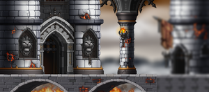 Maplestory custom map, Fire towers by MrLP1234