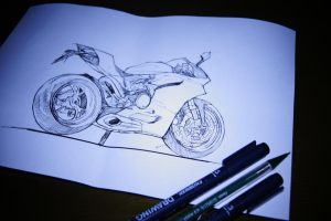 panigale line art by primayoga