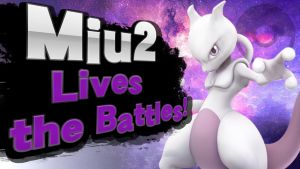 MIu2 Lives the Battles! (SSB4 Splash Card Art) by RaytheFox2012