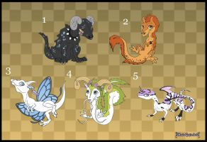 [Closed] Adoptables: Dragons by MySweetQueen