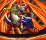 DL/Comm: Volcano throwdown by HronawmonsTamer