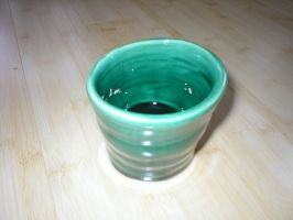 Green Cup by Potterycat