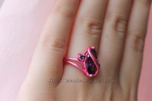 Pink and purple ring by Rongxing Jewelry VIII by QueenWerandra