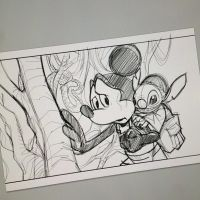 Digital Pencils in Progress: Mickey Skywalker/Yoda by Hodges-Art
