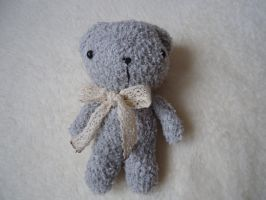 Vintage Grey Pocket Teddy by judithchen