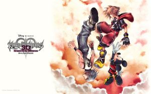 Kingdom hearts 3D Dream Drop Distance:wallpaper by GamerGirlX64