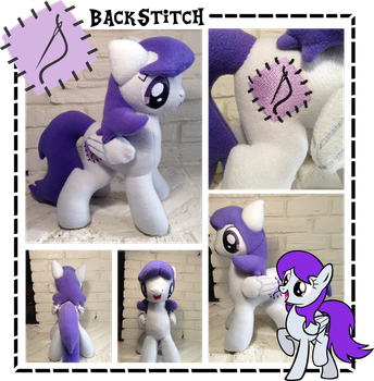 Backstitch Plush by GolemGeekery