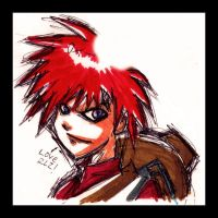 Gaara a pluma madrugada color by HaruEta