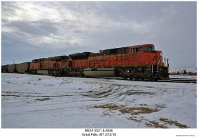 BNSF 9321 and 6256 by hunter1828