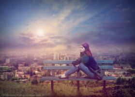 City Solitude by DJMadameNoir