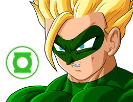 Green Lantern Gohan SSJ by mcgrass