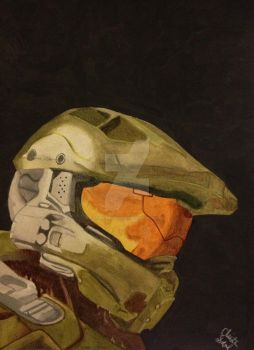 Master Chief by thalassashell