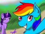 Stop taking selfies, Rainbow Dash by Yogfan