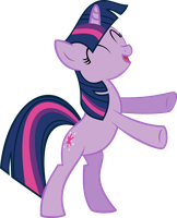 Twilight Sparkle standing on hind legs vector by Pisonisy