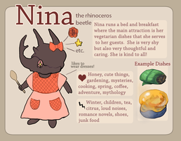 Nina the Rhinoceros Beetle by Uw0