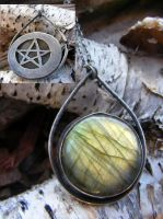 Labradorite Hidden Pentacle 3 by MoonLitCreations