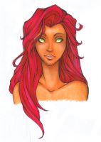 Starfire portrait by Nina-D-Lux