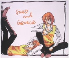 Wicked - Fred and George by graffitee