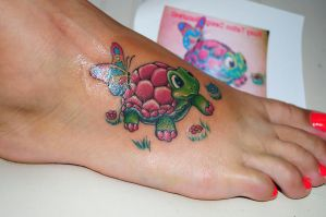 turtle tattoo by edizaed