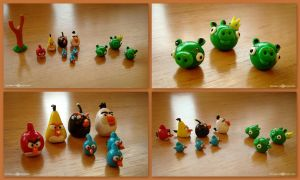 Angry Birds gone clay by Sandien