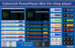 CyberLink PowerPlayer Skins For Aimp by memo-se